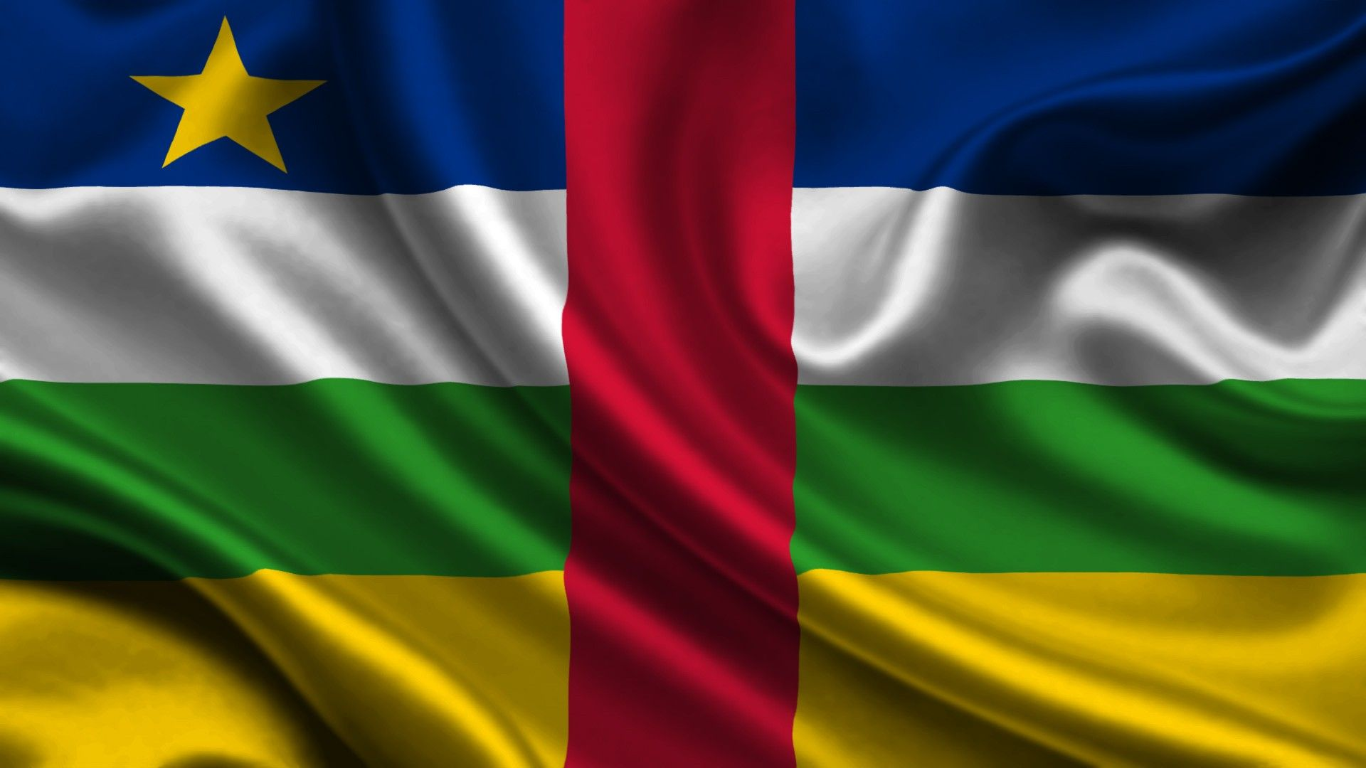 Central African Republic flag wallpaper Flags wallpaper 1920x1080
