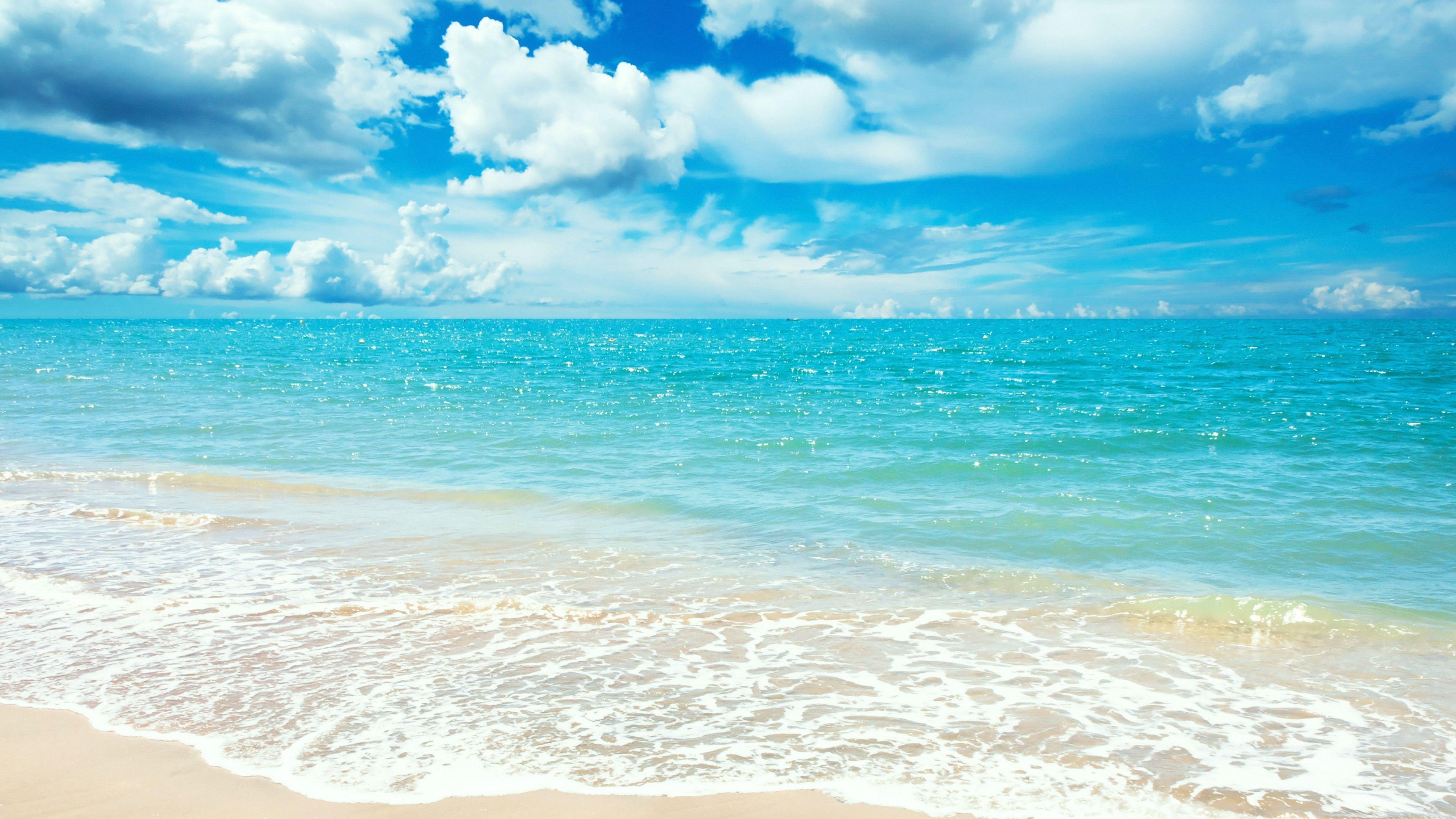 Wallpaper Ocean 5k 4k wallpaper 8k shore beach clouds sky 3840x2160