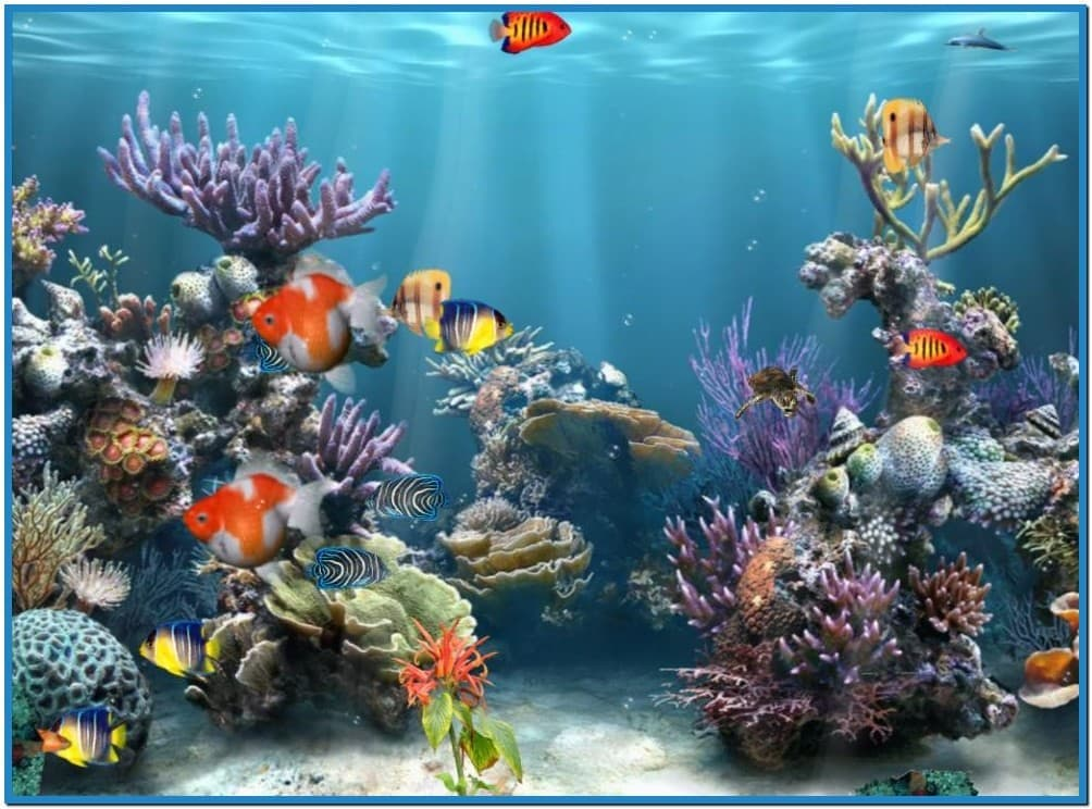 Aquarium wallpaper for windows 10 wallpapersafari for Moving fish screensaver