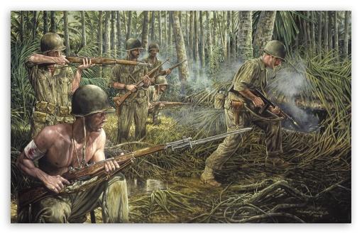 Vietnam War Painting HD desktop wallpaper Widescreen High 510x330