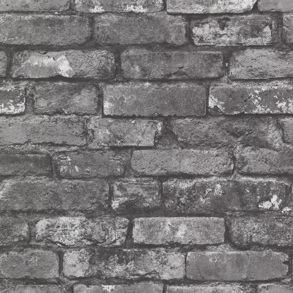 Slate Grey Exposed Brick Stone Wallpaper 2604 21260 eBay 1000x1000