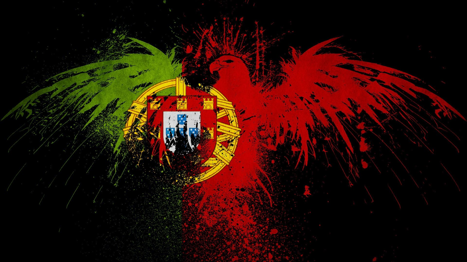 Abstract Portugal Flag World Cup 2014 Wallpaper HD Images 1920x1080
