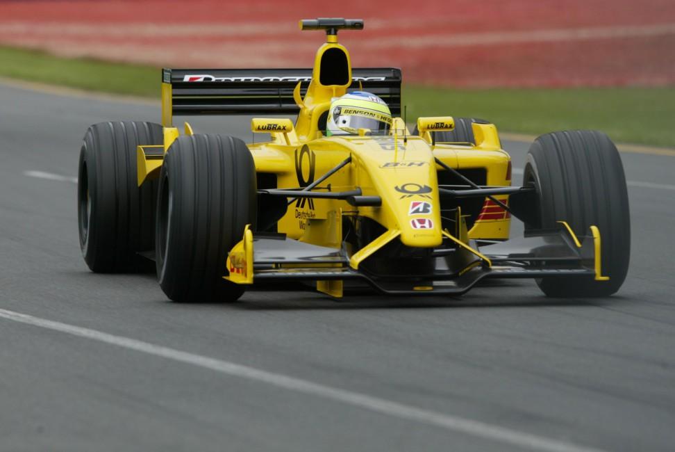 Jordan Ej12 F1 Jordan Formula One Dhl Jordan Honda   Stock 972x650