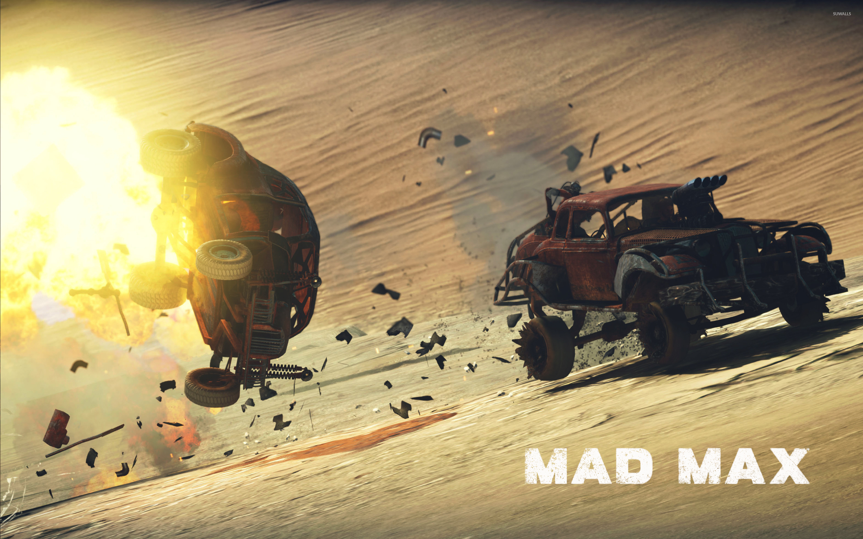 Death Rattle winning a combat in Mad Max wallpaper   Game 2880x1800