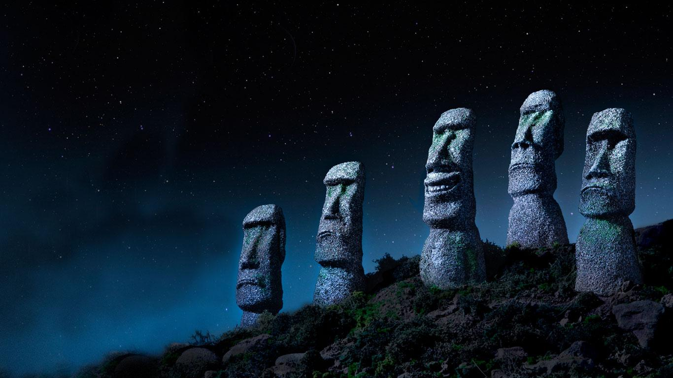 Bing Images   Easter Island Smiles   Easter Island Chile Ocean 1366x768