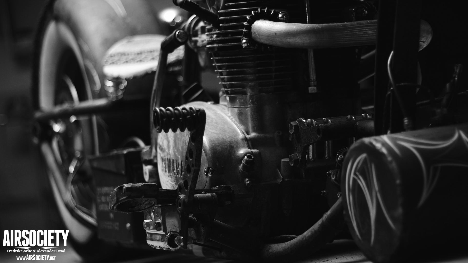 rat bike air ride suspension bagged rust motorcycle chopper yamaha 1920x1080