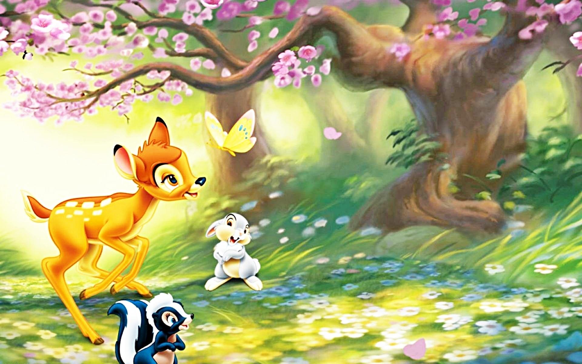 In summer hd wallpaper download cartoon wallpaper html code - Walt Disney S Bambi Wallpaper Walt Disney Characters