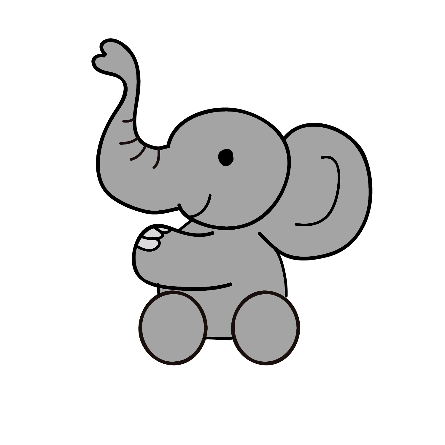 Baby Elephant Wallpaper Cartoon - WallpaperSafari