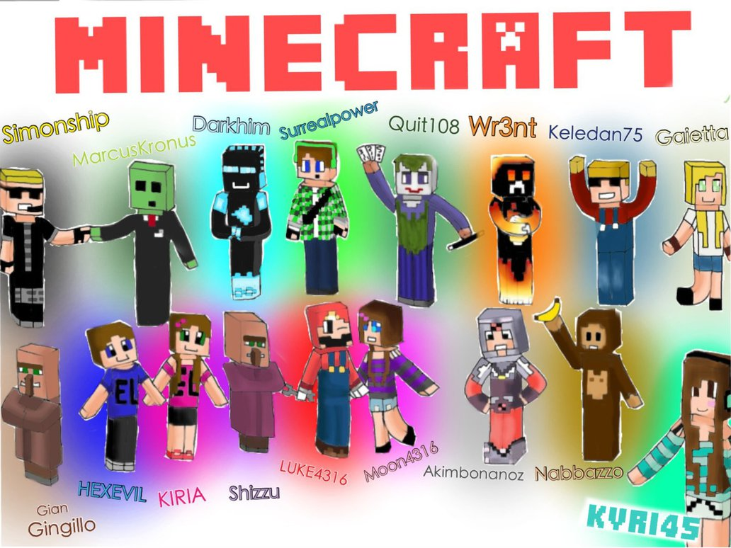 Xpx Minecraft Skin Youtubers Wallpapers WallpaperSafari - Skins para minecraft youtubers