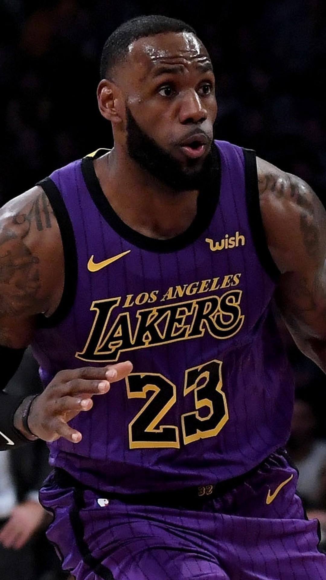 LeBron James LA Lakers Wallpaper iPhone HD 2020 Basketball Wallpaper 1080x1920