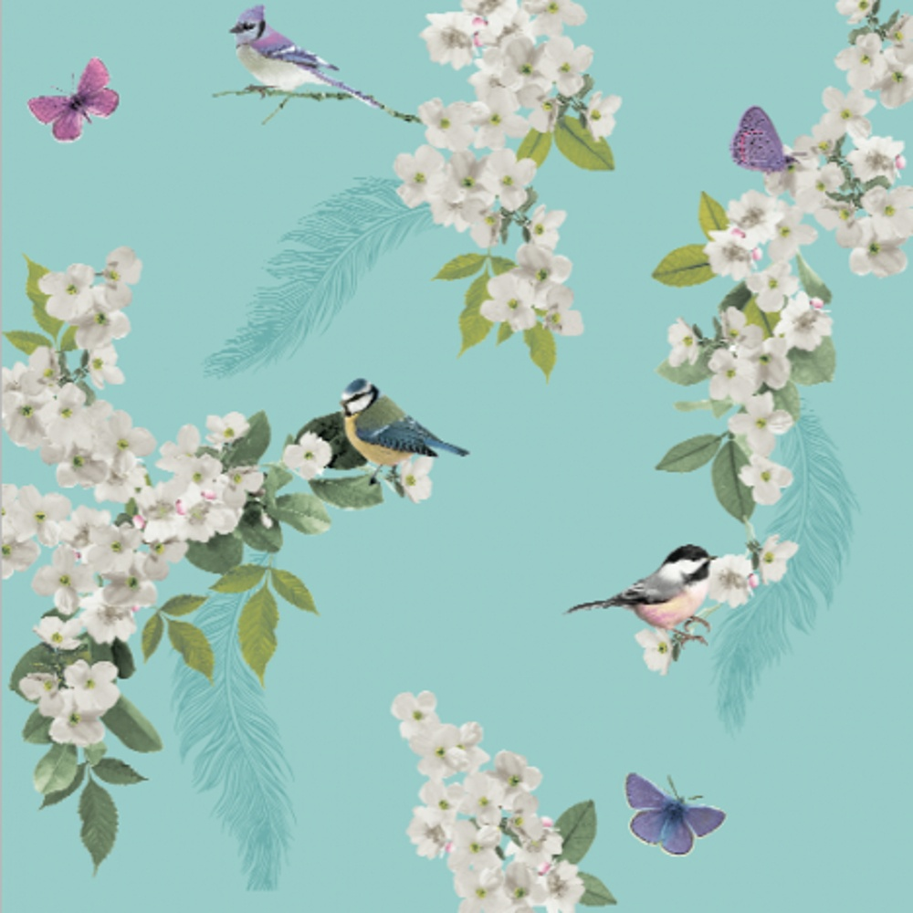 Home Wallpaper Arthouse Arthouse Mitzu Floral Pattern Bird 1000x1000
