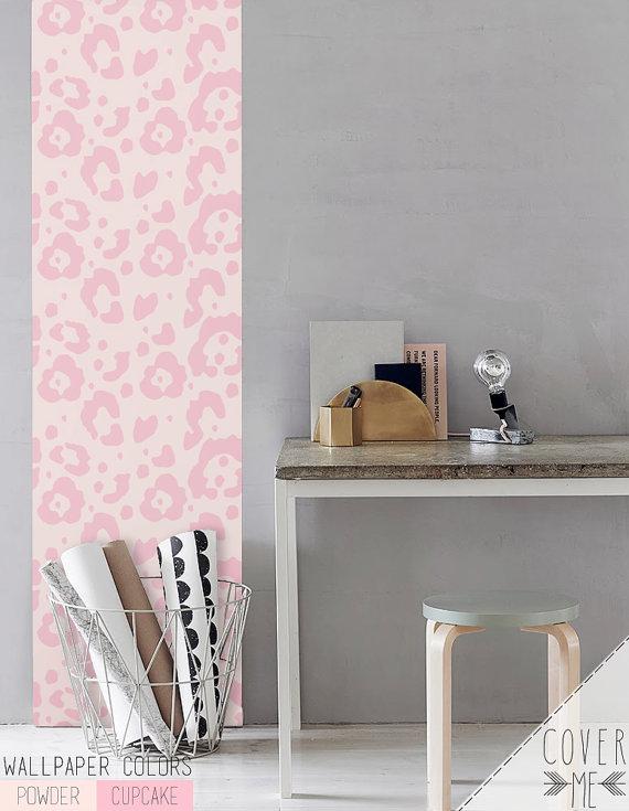 Peel and Stick Self adhesive vinyl Wallpaper Cheetah pattern  CM037 570x735