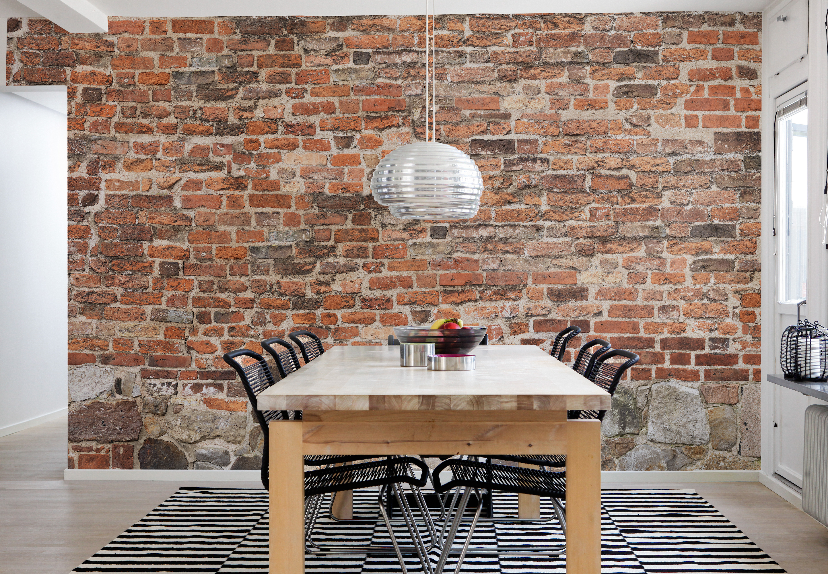 9+] Brick Wallpaper in Kitchen on WallpaperSafari