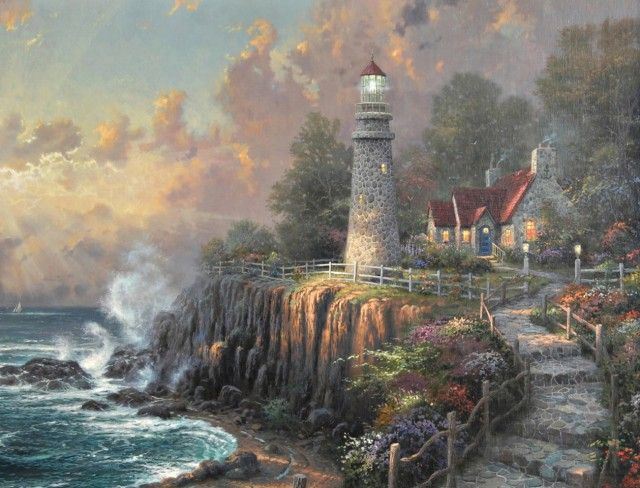 Lighthouse Pictures Thomas Kinkade 640x488