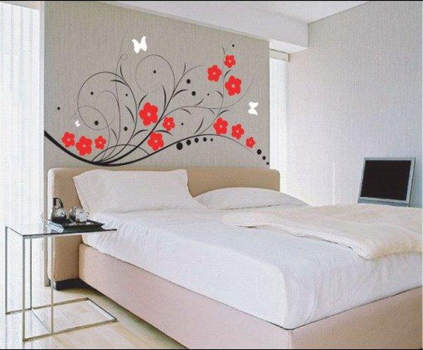 30 Best Diy Wallpaper Designs for Bedrooms UK 2015 600x496