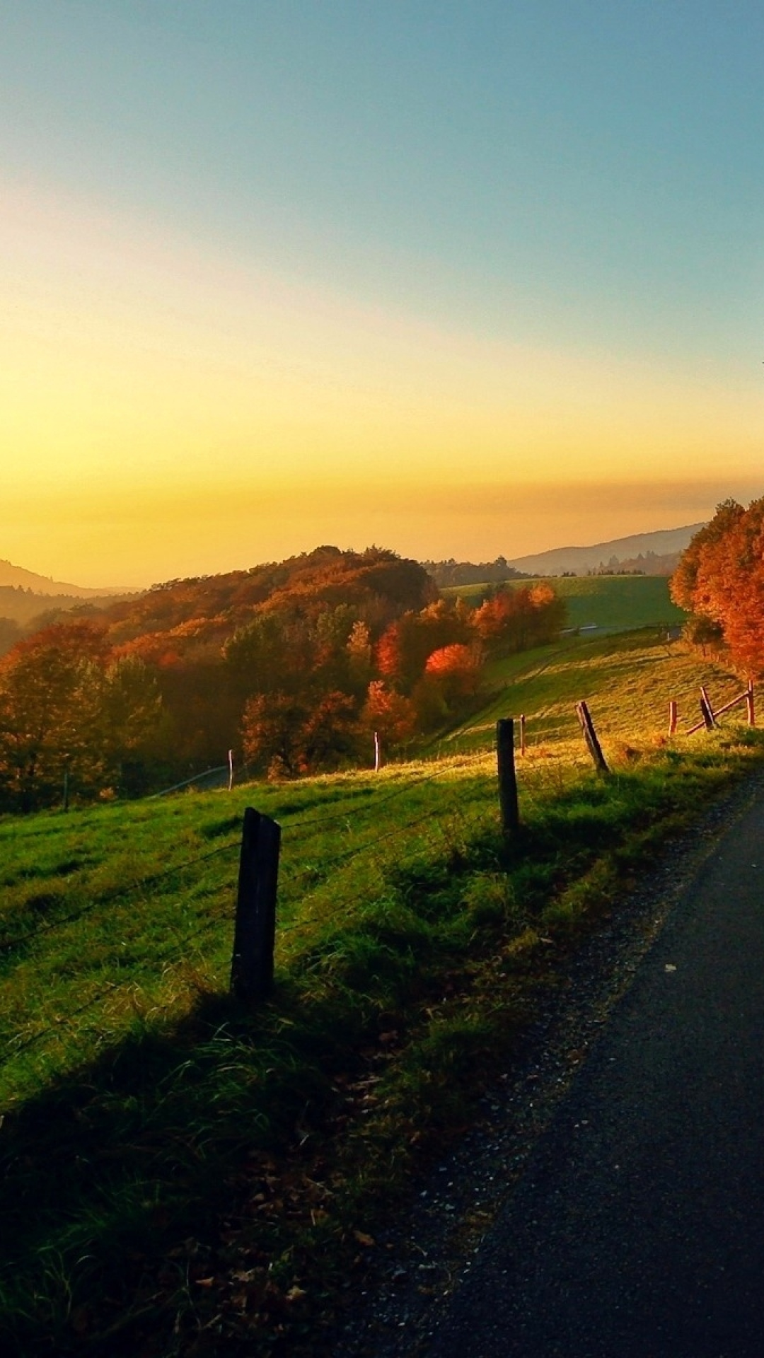 Countryside Autumn Landscape Android Wallpaper download 1080x1920