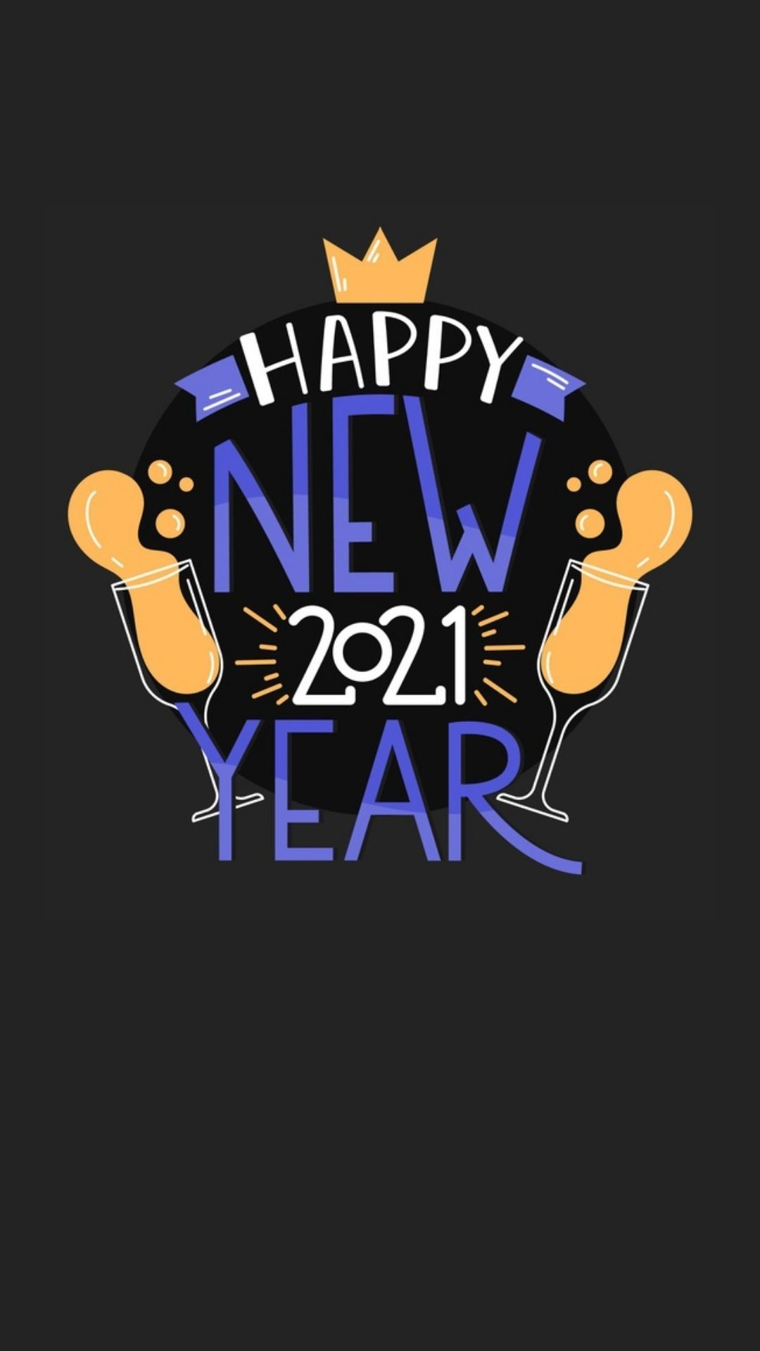 New year cute wallpapers 2021 for Android and iPhone backgrounds 1080x1920