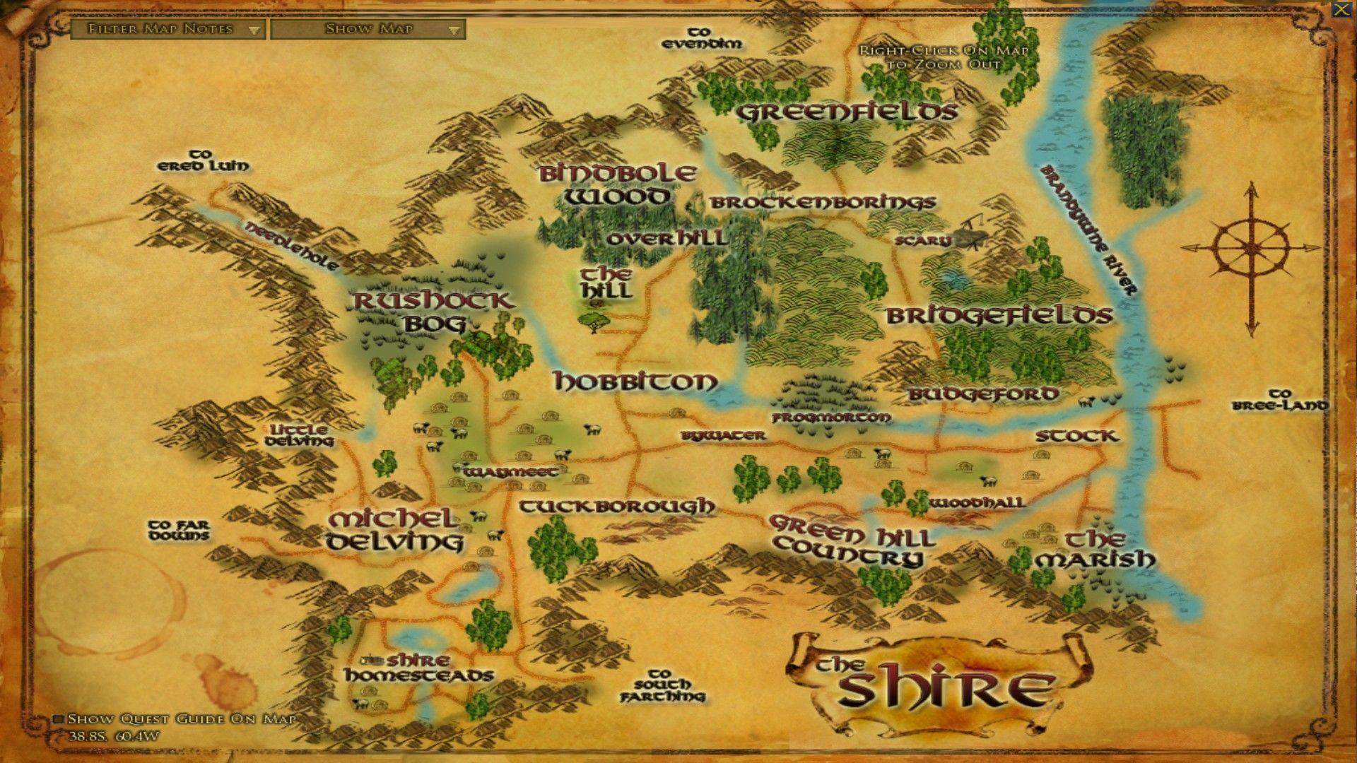 Lord Of The Rings Map Wallpapers 1920x1080