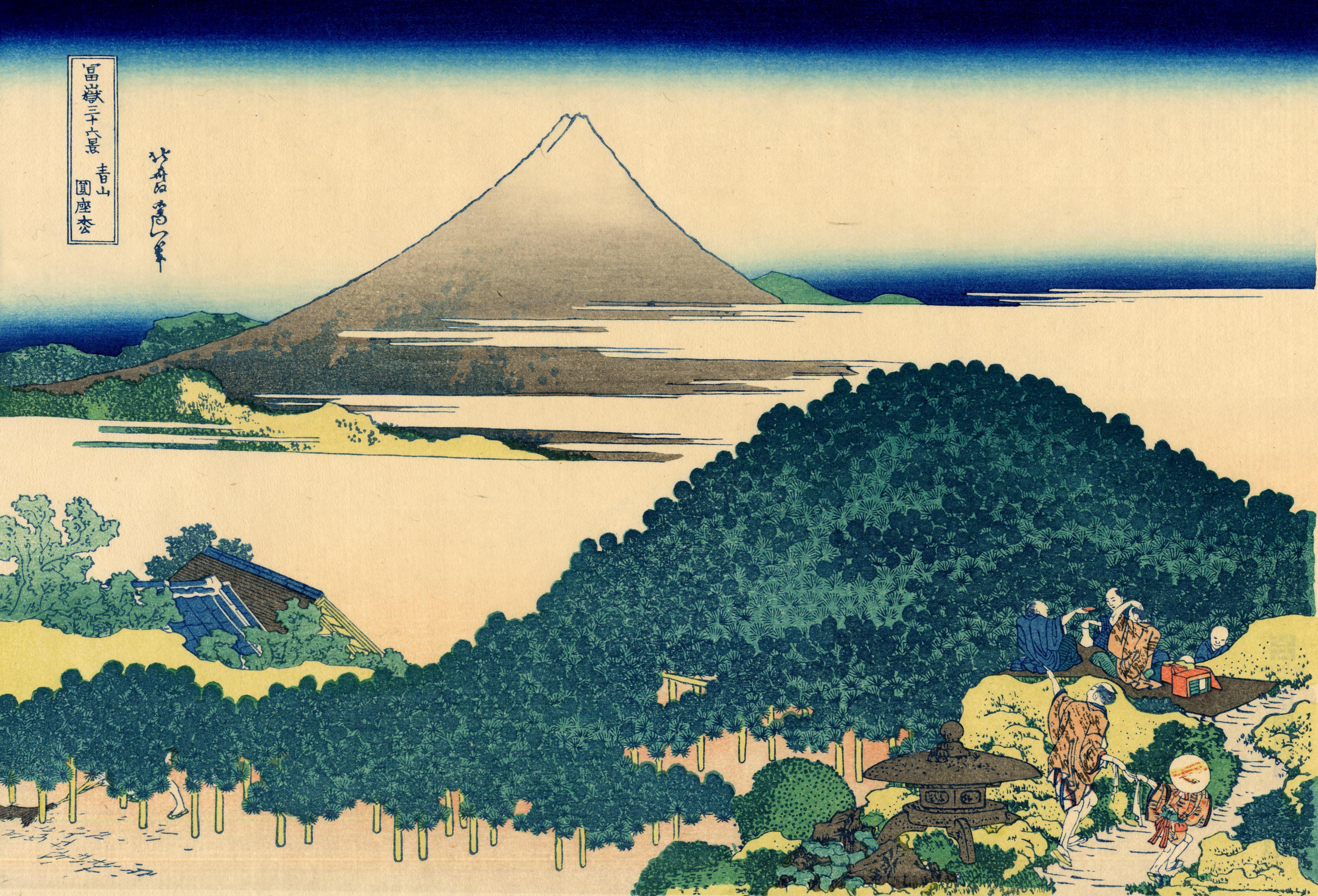 Hokusai Katsushika Wallpaper 06 The coast of seven leages in Kamakura 4340x2952