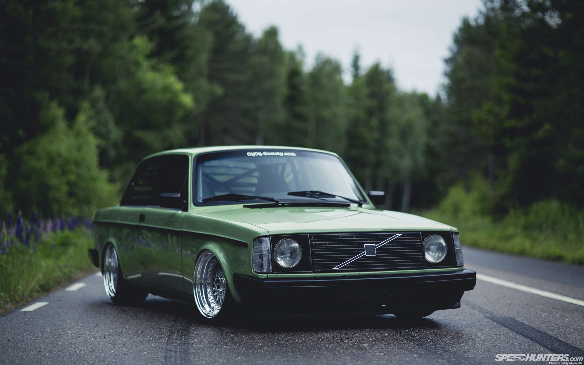 old cars Volvo outdoors roads tuning Volvo 242 Wallpapers 1920x1200