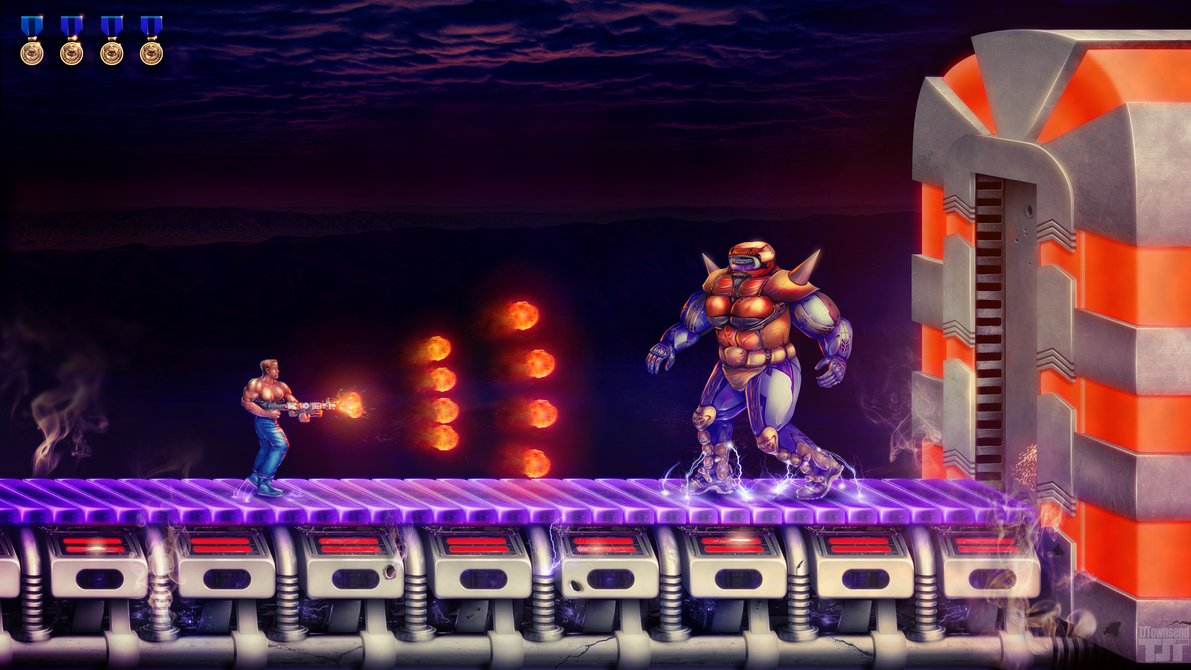 Free download Contra Energy Zone Boss by Elemental79 [1191x670] for