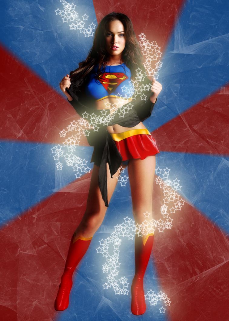 Megan Fox Superwoman Wallpaper of Celebrity 756x1057