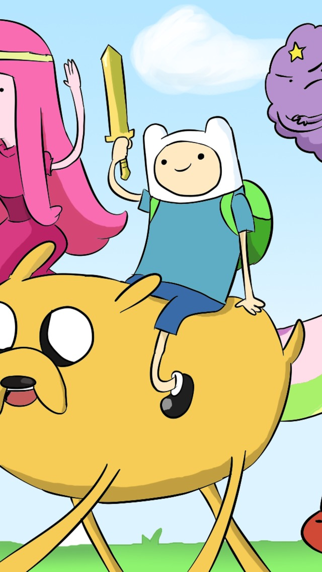 Adventure Time Cast Wallpaper for iPhone 5 640x1136