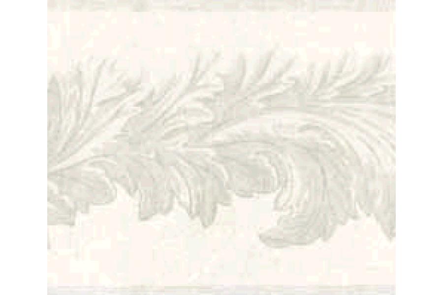 Light Grey Leaf Molding Wallpaper Border 900x600