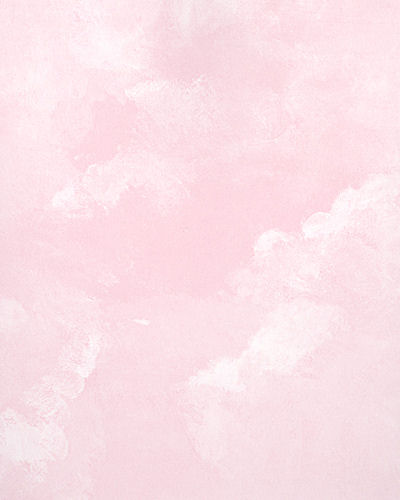 Light Pink Faux Cloud Wallpaper   Kids Wall Decor Store 400x500