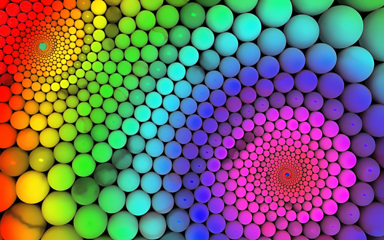 Molecular Cute Brown Rabbit Wide Screen 3D Desktop Wallpaper 1280x800