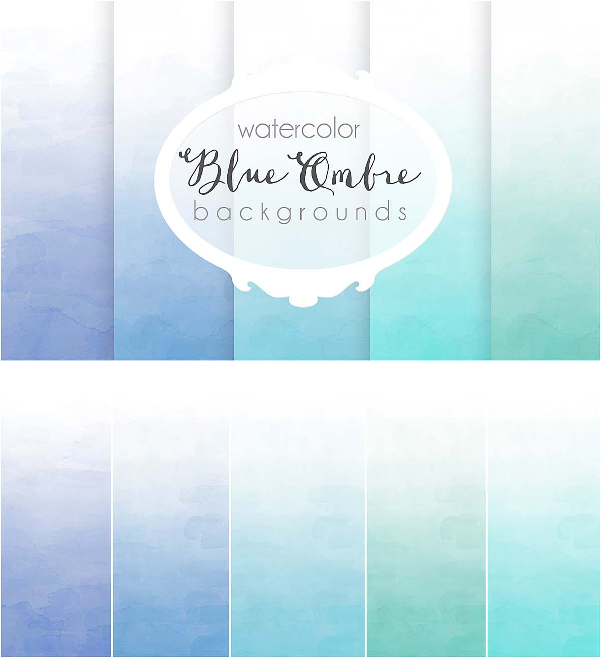Blue ombre background set download 1200x1314