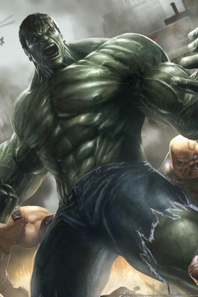 640x960 The Incredible Hulk Iphone 4 wallpaper 640x960