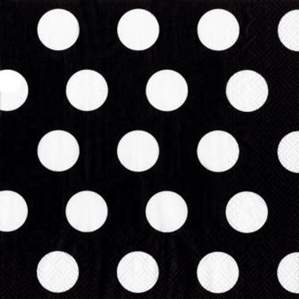 Black and White Polka Dots - Waterford Event Rentals