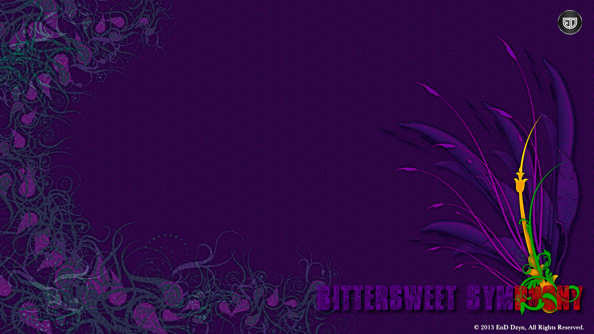 Vector HD Wallpaper Background Abstract Funky Purple 3D 1920x1080