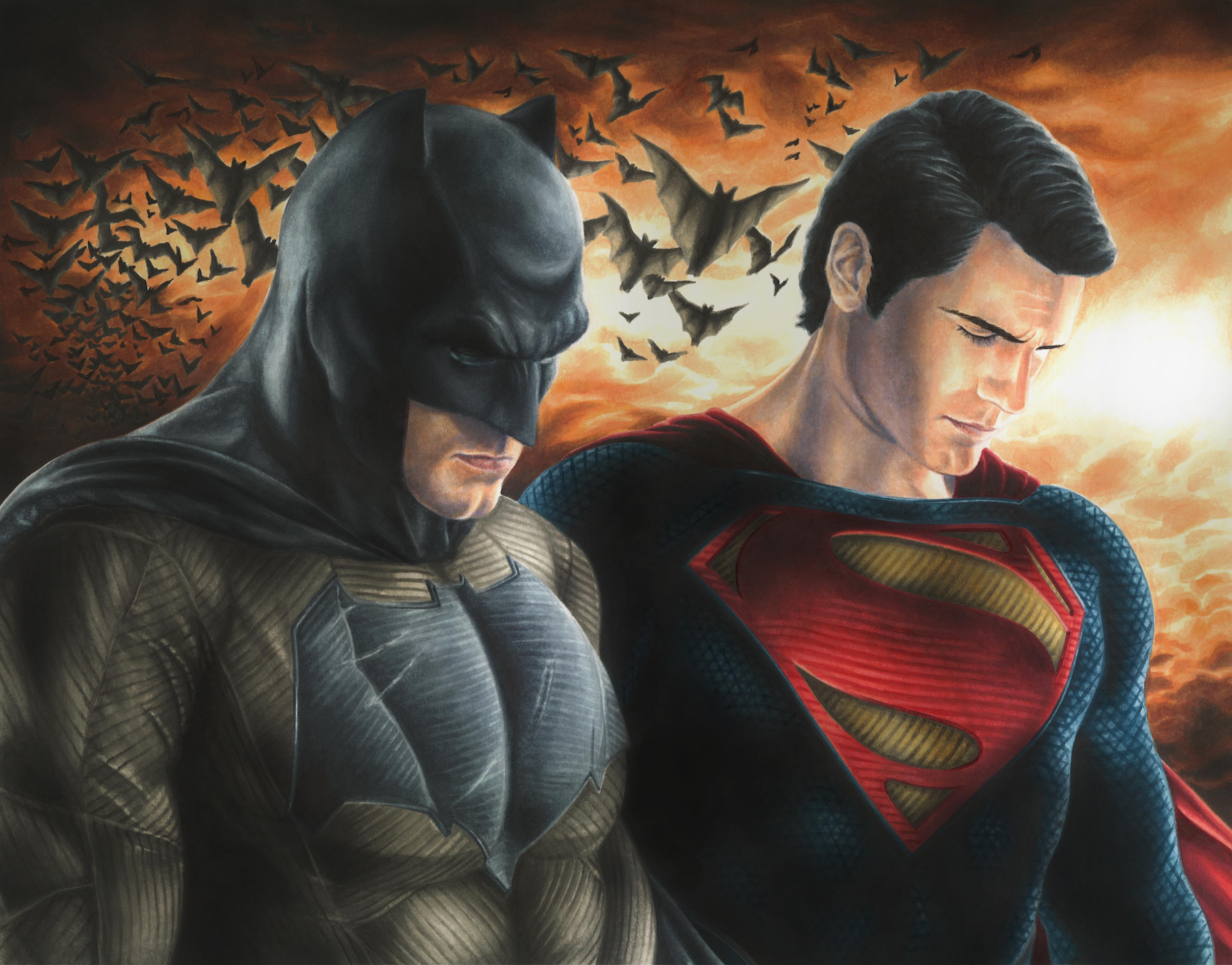 Wallpaper batman superman v dawn of justice dc comics superman 4177x3270