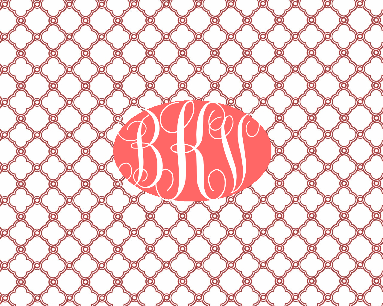 make your own lilly pulitzer monogram wallpaper