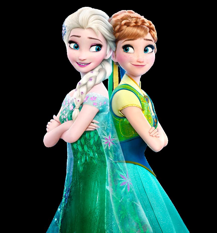 Elsa and Anna Frozen Fever   Vector by Simmeh 862x926