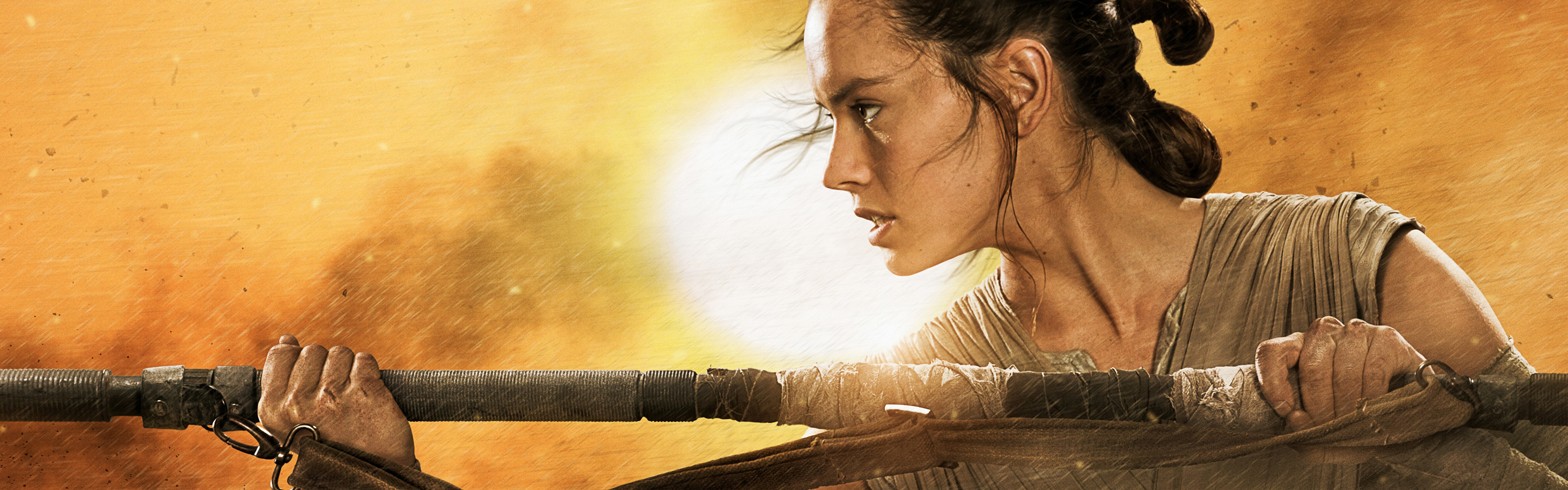 Star Wars The Force Awakens Rey Wallpapers HD Wallpapers 3840x1200