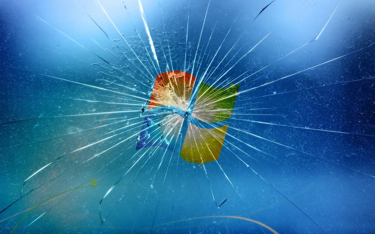 Broken Glass Windows wallpaper 10558 1280x800