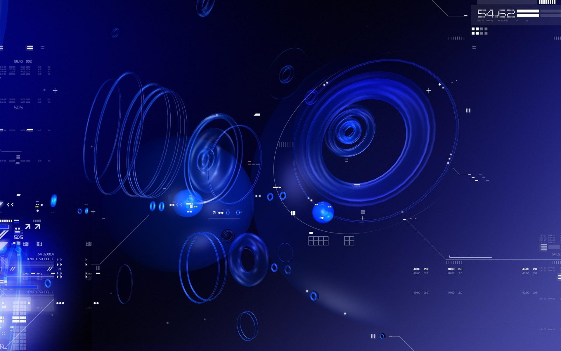Cool Blue Abstract HD Desktop Wallpaper 1920x1200