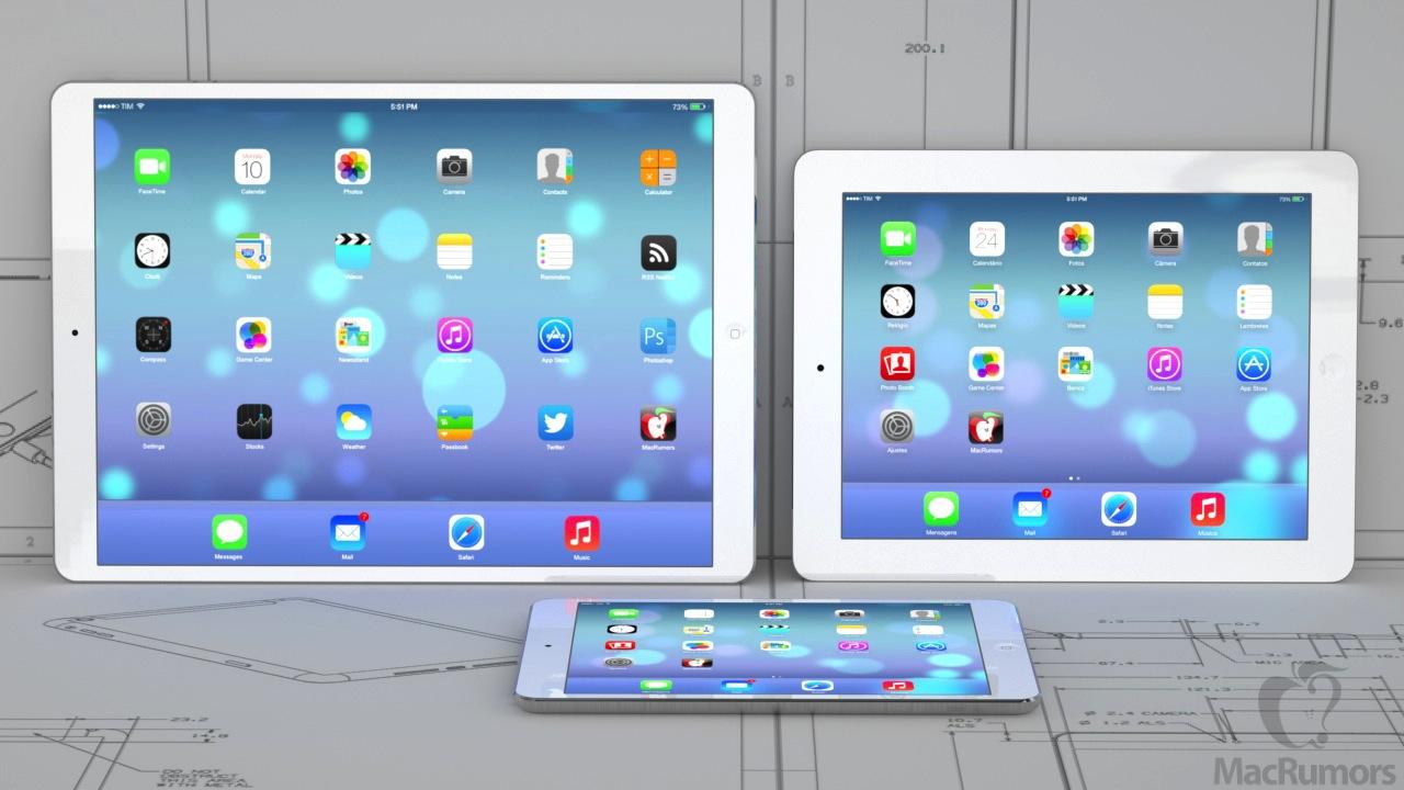 129 inch iPad left with fourth generation iPad right and iPad 1280x720