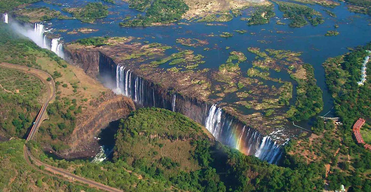 World Visits The Victoria Falls in Zimbabwe Cool Wallpaper 1188x614