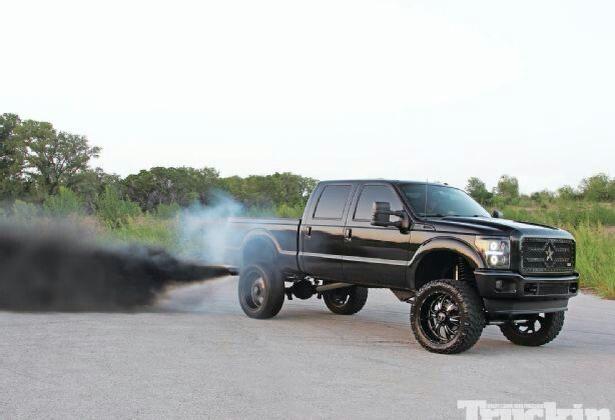 2012 F 250 V8 67L PowerStroke Turbo Diesel Rolling Coal Rolling 615x420