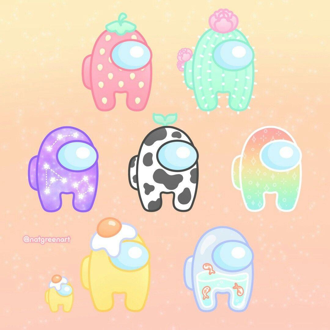Among us Cute patterns wallpaper Cartoon wallpaper iphone 1080x1080
