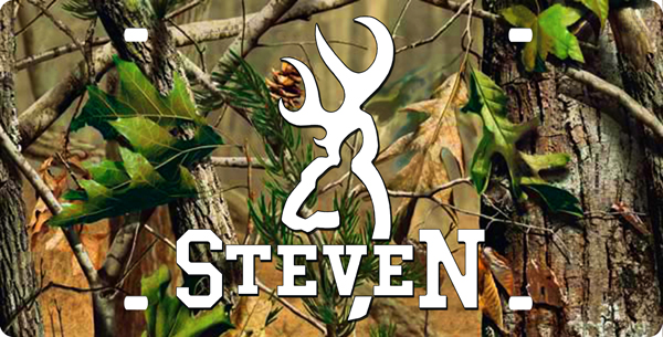 Camo Browning Logo Wallpaper Browning with name in white 600x305
