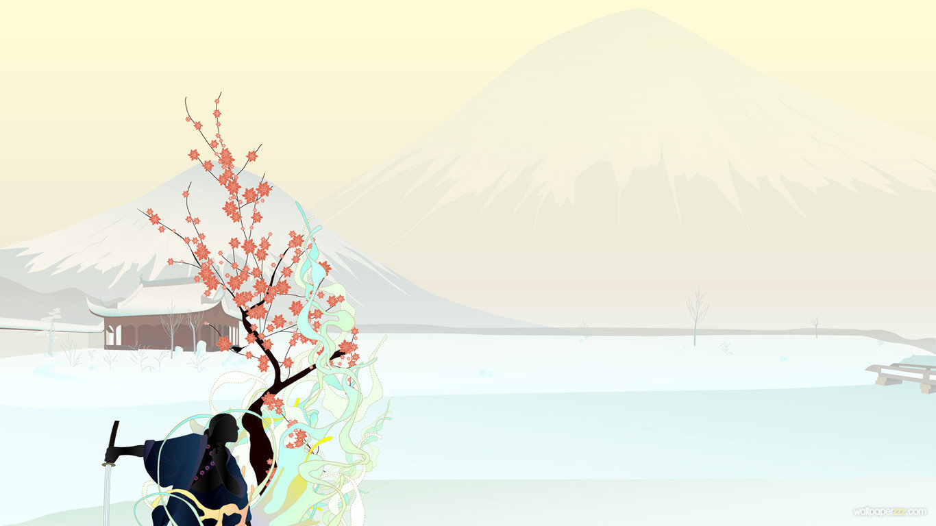 Download Samurai Art HD Wallpaper Wallpaper 1366x768