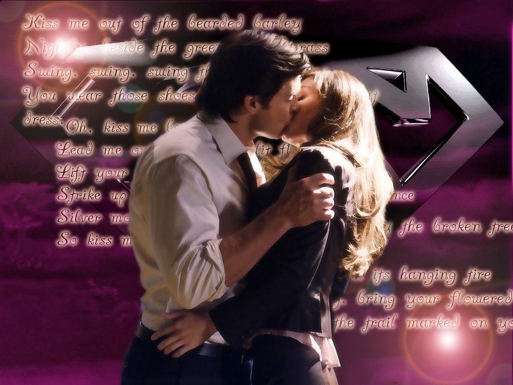 Clark Kent And Lois Lane Kiss Me Wallpaper 1024768   Smallville 1024x768
