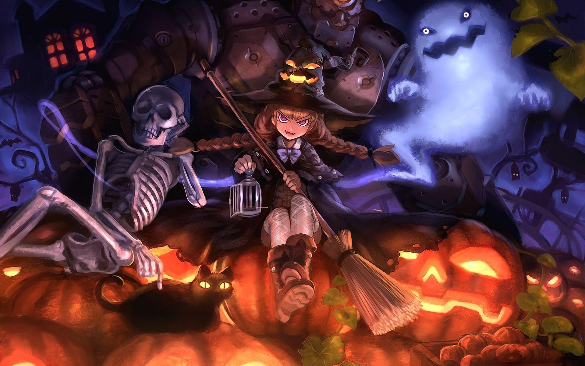 Halloween witch wallpaper 1920x1200