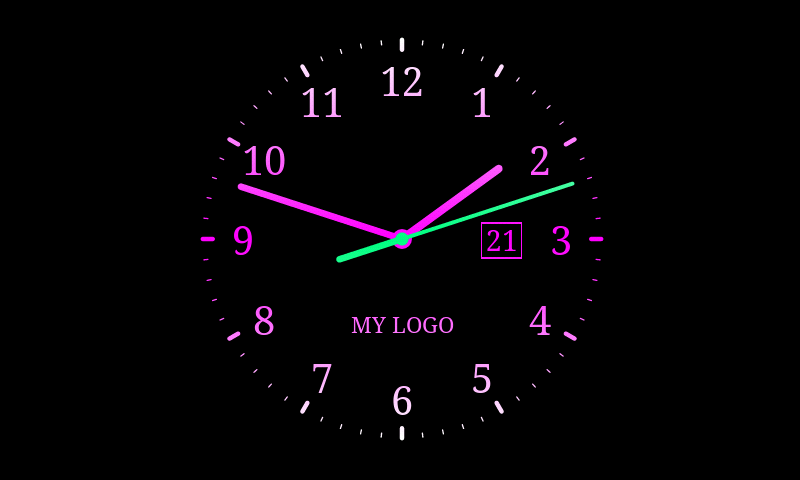 Analog Clock Live Wallpaper 7   Android Apps on Google Play 800x480