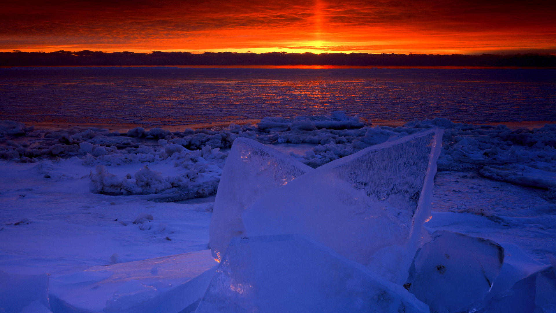 Frozen Lake Michigan Pictures Find Nature Wallpaper 1920x1080
